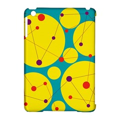 Yellow And Green Decorative Circles Apple Ipad Mini Hardshell Case (compatible With Smart Cover) by Valentinaart
