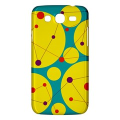 Yellow And Green Decorative Circles Samsung Galaxy Mega 5 8 I9152 Hardshell Case  by Valentinaart