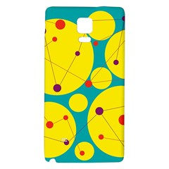 Yellow And Green Decorative Circles Galaxy Note 4 Back Case by Valentinaart