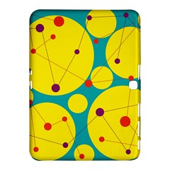 Yellow And Green Decorative Circles Samsung Galaxy Tab 4 (10 1 ) Hardshell Case  by Valentinaart