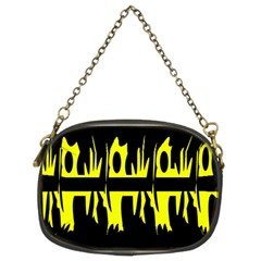 Yellow Abstract Pattern Chain Purses (two Sides)  by Valentinaart
