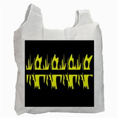 Yellow Abstract Pattern Recycle Bag (two Side)  by Valentinaart