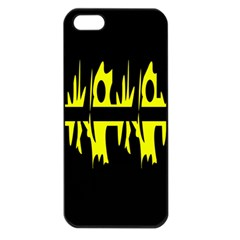 Yellow Abstract Pattern Apple Iphone 5 Seamless Case (black) by Valentinaart