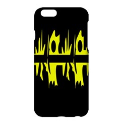 Yellow Abstract Pattern Apple Iphone 6 Plus/6s Plus Hardshell Case by Valentinaart