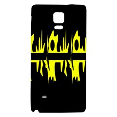 Yellow Abstract Pattern Galaxy Note 4 Back Case by Valentinaart