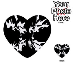 Black And White Pattern Multi Purpose Cards (heart)