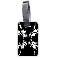 Black And White Pattern Luggage Tags (one Side)  by Valentinaart