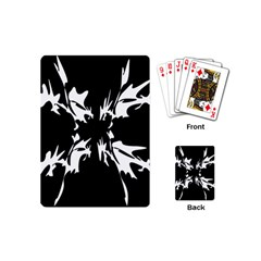 Black And White Pattern Playing Cards (mini)  by Valentinaart