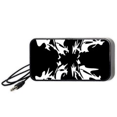 Black And White Pattern Portable Speaker (black)  by Valentinaart