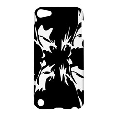 Black And White Pattern Apple Ipod Touch 5 Hardshell Case by Valentinaart