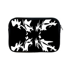 Black And White Pattern Apple Ipad Mini Zipper Cases by Valentinaart