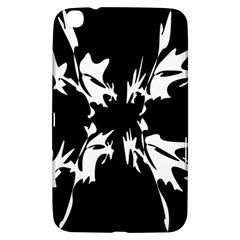 Black And White Pattern Samsung Galaxy Tab 3 (8 ) T3100 Hardshell Case  by Valentinaart