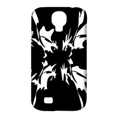 Black And White Pattern Samsung Galaxy S4 Classic Hardshell Case (pc+silicone) by Valentinaart