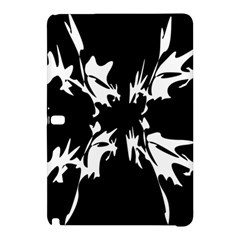Black And White Pattern Samsung Galaxy Tab Pro 12 2 Hardshell Case by Valentinaart