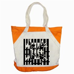Black And White Abstraction Accent Tote Bag by Valentinaart