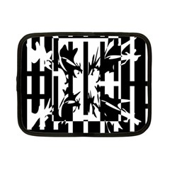 Black And White Abstraction Netbook Case (small)  by Valentinaart