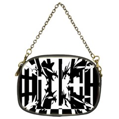 Black And White Abstraction Chain Purses (two Sides)  by Valentinaart