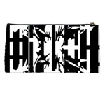 Black and white abstraction Pencil Cases Back