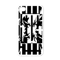 Black And White Abstraction Apple Iphone 4 Case (white) by Valentinaart
