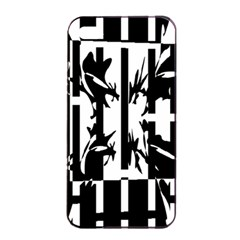 Black And White Abstraction Apple Iphone 4/4s Seamless Case (black) by Valentinaart