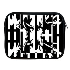 Black And White Abstraction Apple Ipad 2/3/4 Zipper Cases by Valentinaart