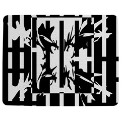 Black And White Abstraction Jigsaw Puzzle Photo Stand (rectangular) by Valentinaart