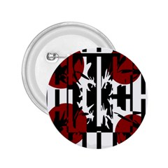 Red, Black And White Elegant Design 2 25  Buttons