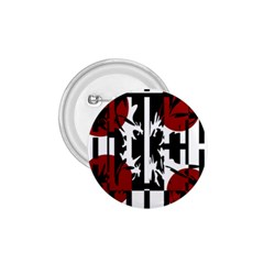 Red, Black And White Elegant Design 1 75  Buttons by Valentinaart
