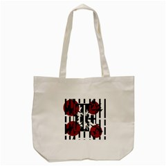 Red, Black And White Elegant Design Tote Bag (cream) by Valentinaart