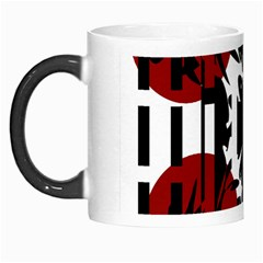 Red, Black And White Elegant Design Morph Mugs by Valentinaart