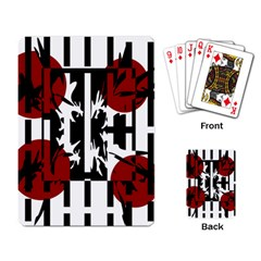 Red, Black And White Elegant Design Playing Card by Valentinaart