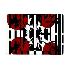 Red, Black And White Elegant Design Apple Ipad Mini Flip Case by Valentinaart