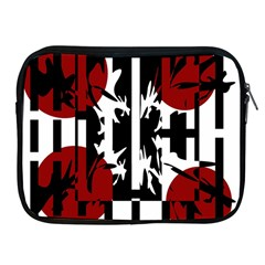 Red, Black And White Elegant Design Apple Ipad 2/3/4 Zipper Cases by Valentinaart