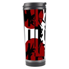 Red, Black And White Elegant Design Travel Tumbler by Valentinaart