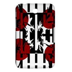 Red, Black And White Elegant Design Samsung Galaxy Tab 3 (7 ) P3200 Hardshell Case  by Valentinaart