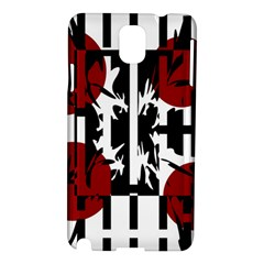 Red, Black And White Elegant Design Samsung Galaxy Note 3 N9005 Hardshell Case by Valentinaart