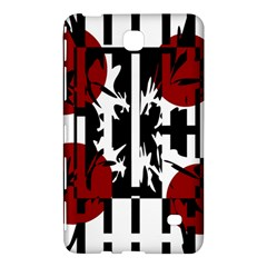 Red, Black And White Elegant Design Samsung Galaxy Tab 4 (8 ) Hardshell Case  by Valentinaart