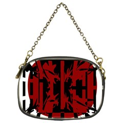 Red, Black And White Decorative Design Chain Purses (one Side)  by Valentinaart