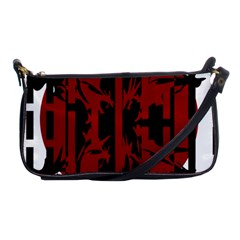 Red, Black And White Decorative Design Shoulder Clutch Bags by Valentinaart