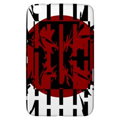 Red, Black And White Decorative Design Samsung Galaxy Tab 3 (8 ) T3100 Hardshell Case  by Valentinaart