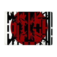 Red, Black And White Decorative Design Ipad Mini 2 Flip Cases by Valentinaart