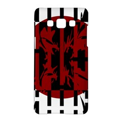Red, Black And White Decorative Design Samsung Galaxy A5 Hardshell Case  by Valentinaart