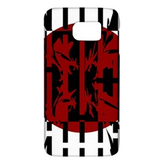 Red, Black And White Decorative Design Galaxy S6 by Valentinaart