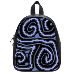 Blue Abstract Design School Bags (small)  by Valentinaart