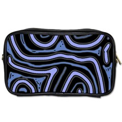 Blue Abstract Design Toiletries Bags 2 Side by Valentinaart