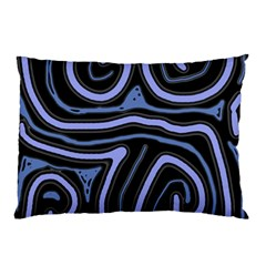 Blue Abstract Design Pillow Case (two Sides) by Valentinaart