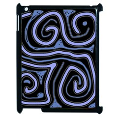Blue Abstract Design Apple Ipad 2 Case (black) by Valentinaart