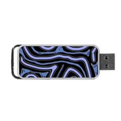 Blue Abstract Design Portable Usb Flash (one Side) by Valentinaart
