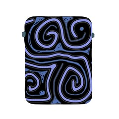 Blue Abstract Design Apple Ipad 2/3/4 Protective Soft Cases by Valentinaart