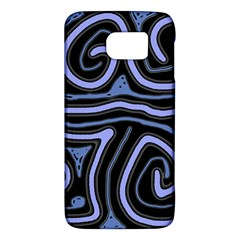 Blue Abstract Design Galaxy S6 by Valentinaart